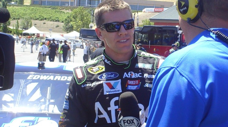 Carl Edwards at Sonoma Raceway on June 22, 2013 (Credit: The Fast and the Fabulous)