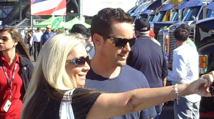 Casey Mears takes a picture with a fan at Sonoma Raceway on June 22, 2013 (Credit: The Fast and the Fabulous)