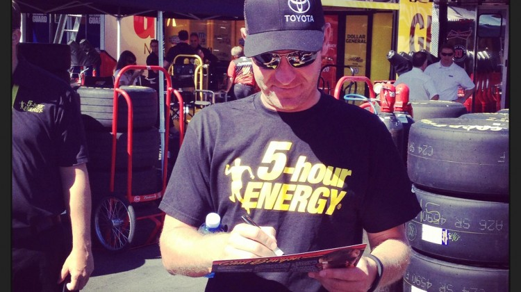 Clint Bowyer at Sonoma Raceway on June 22, 2013 (Credit: The Fast and the Fabulous)