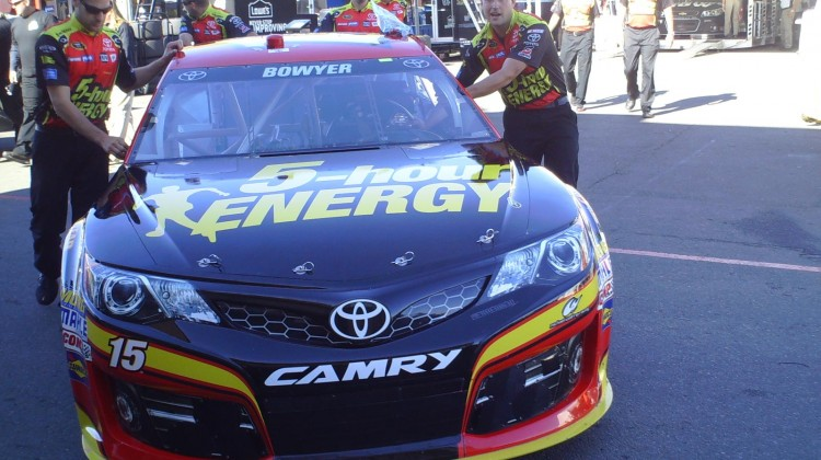 The No. 15 5-Hour Energy Toyota goes through inspection at Sonoma Raceway on June 22, 2013 (Credit: The Fast and the Fabulous)