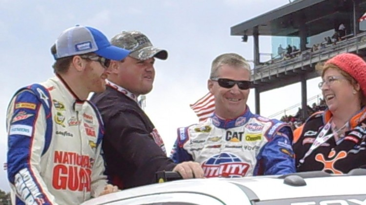 Dale Earnhardt Jr. and Jeff Burton at Sonoma Raceway on Sunday, July 23, 2013. (photo credit: The Fast and the Fabulous)