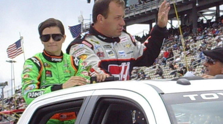 Danica Patrick and Ryan Newman at Sonoma Raceway on Sunday, July 23, 2013. (photo credit: The Fast and the Fabulous)