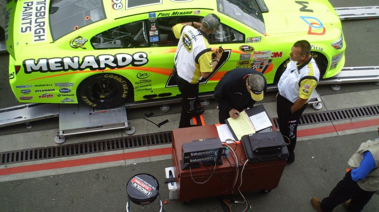 The No. 27 goes through inspection at Sonoma Raceway on Sunday, July 23, 2013. (photo credit: The Fast and the Fabulous)