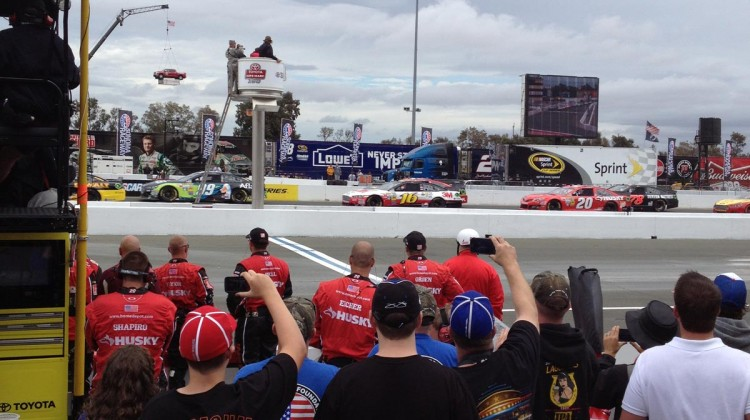 The race start at Sonoma Raceway on Sunday, July 23, 2013. (photo credit: The Fast and the Fabulous)
