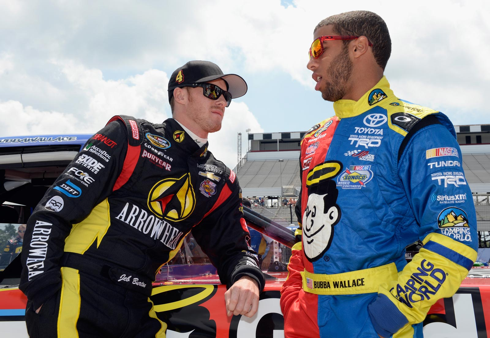 Jeb-Burton-Darrell-Wallace-Jr-Pocono-August-NASCAR-Camping-World-Truck-Series