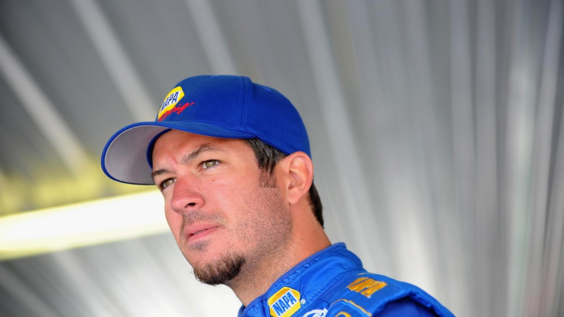 Martin Truex Jr., driver of the #56 NAPA Auto Parts Toyota, prepares to drive during practice for the NASCAR Sprint Cup Series GoBowling.com 400 at Pocono Raceway on August 2, 2013 in Long Pond, Pennsylvania. (Photo by Will Schneekloth/Getty Images)