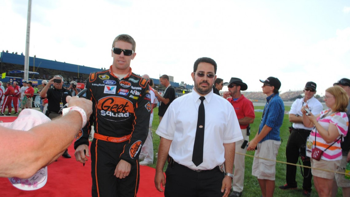 Carl Edwards at Michigan International Speedway in Brookyln, MI (Credit: Heather Baker for The Fast and the Fabulous)