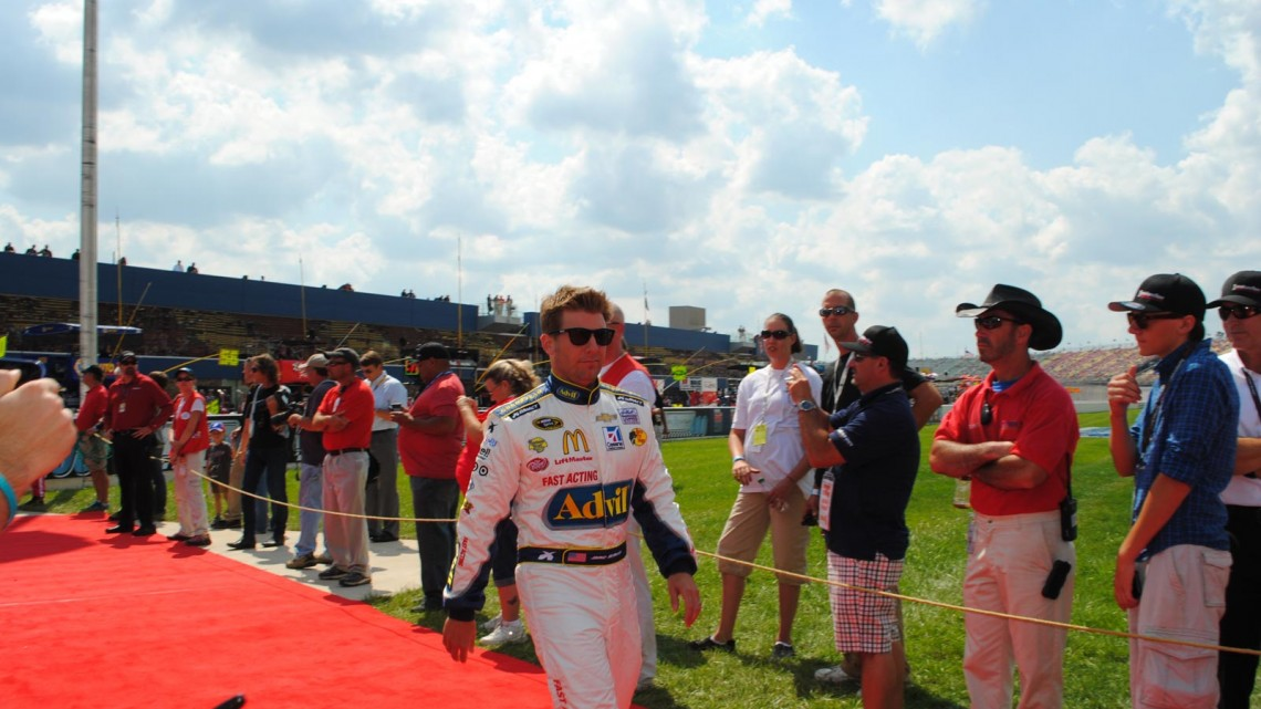 Jamie McMurray at Michigan International Speedway in Brookyln, MI (Credit: Heather Baker for The Fast and the Fabulous)