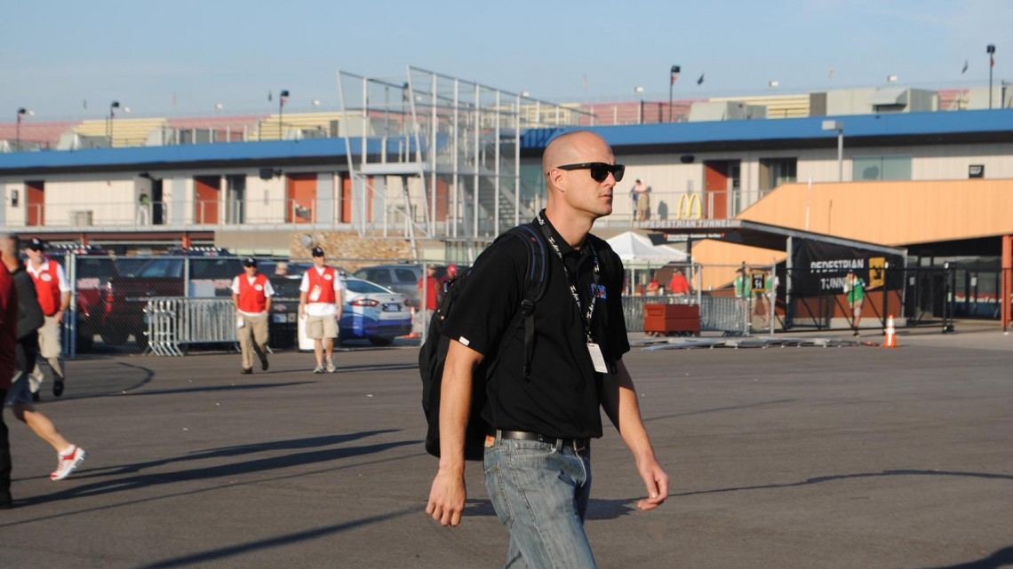 Josh Wise at Michigan International Speedway in Brookyln, MI (Credit: Heather Baker for The Fast and the Fabulous)