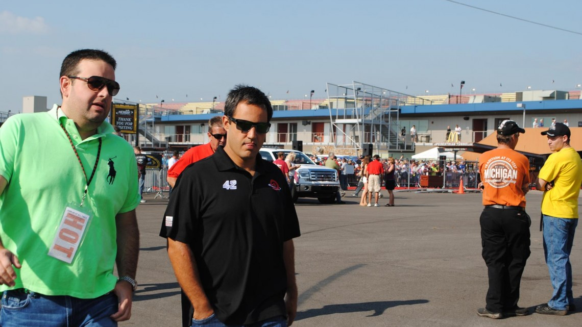 Juan Pablo Montoya at Michigan International Speedway in Brookyln, MI (Credit: Heather Baker for The Fast and the Fabulous)