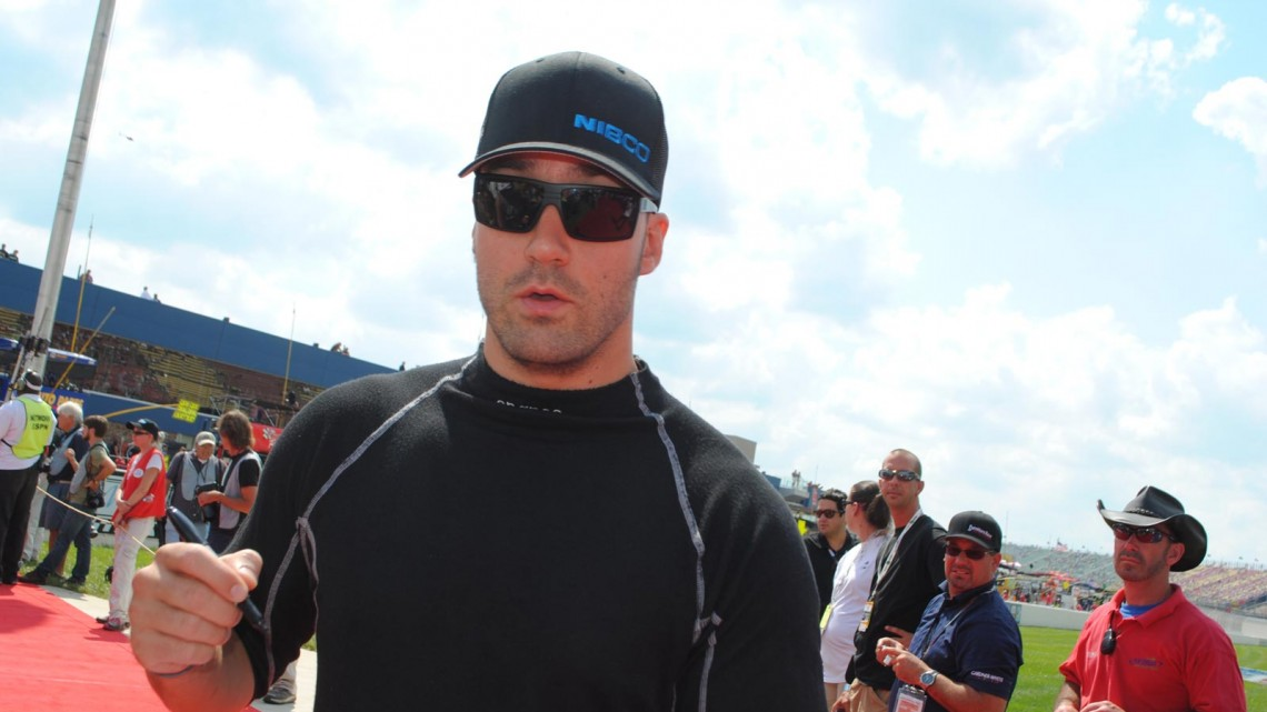 Paul Menard at Michigan International Speedway in Brookyln, MI (Credit: Heather Baker for The Fast and the Fabulous)