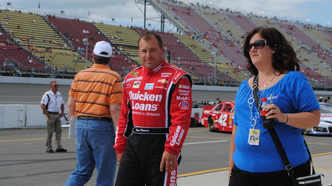 Ryan Newman at Michigan International Speedway in Brookyln, MI (Credit: Heather Baker for The Fast and the Fabulous)