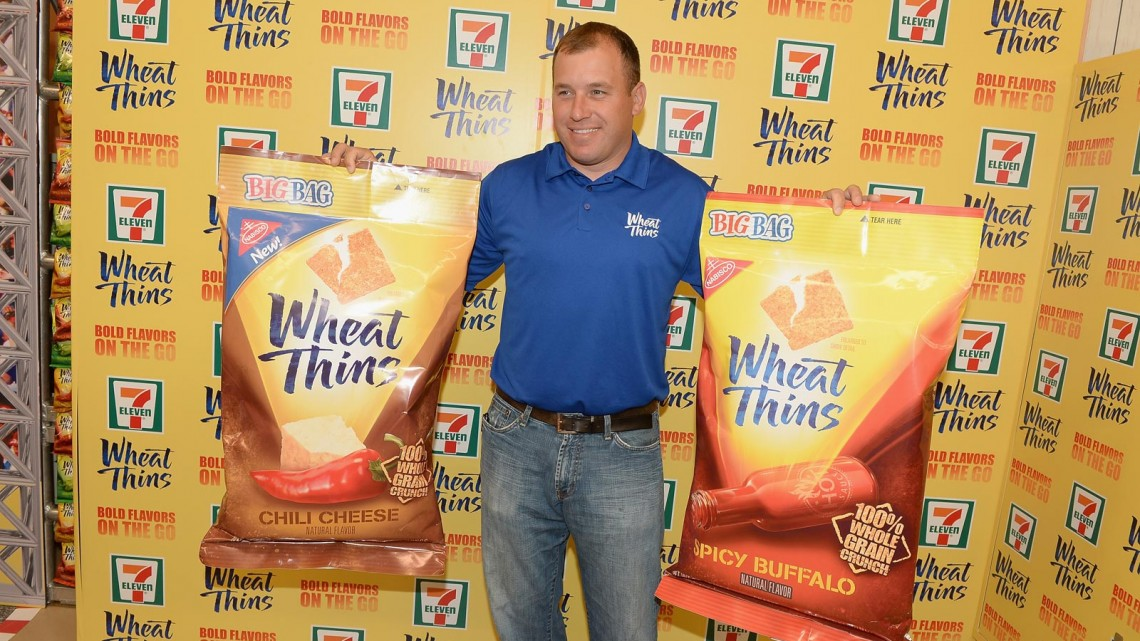 NASCAR Sprint Cup Series Driver Ryan Newman Teams Up With Wheat Thins to take over 7-Eleven Store on October 2, 2013 in New York City. (Photo by Theo Wargo/Getty Images for Wheat Thins)