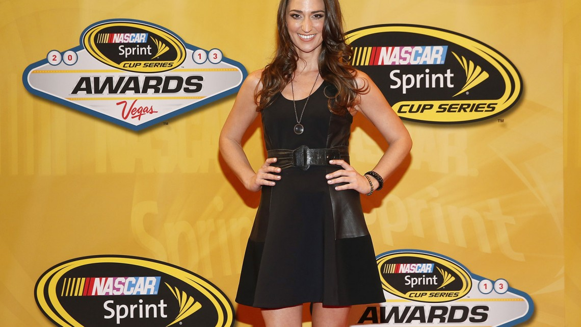 Singer Sara Bareilles arrives on the red carpet for the NASCAR Sprint Cup Series Champion's Awards at Wynn Las Vegas on December 6, 2013 in Las Vegas, Nevada. Credit: NASCAR via Chris Graythen/Getty Images)