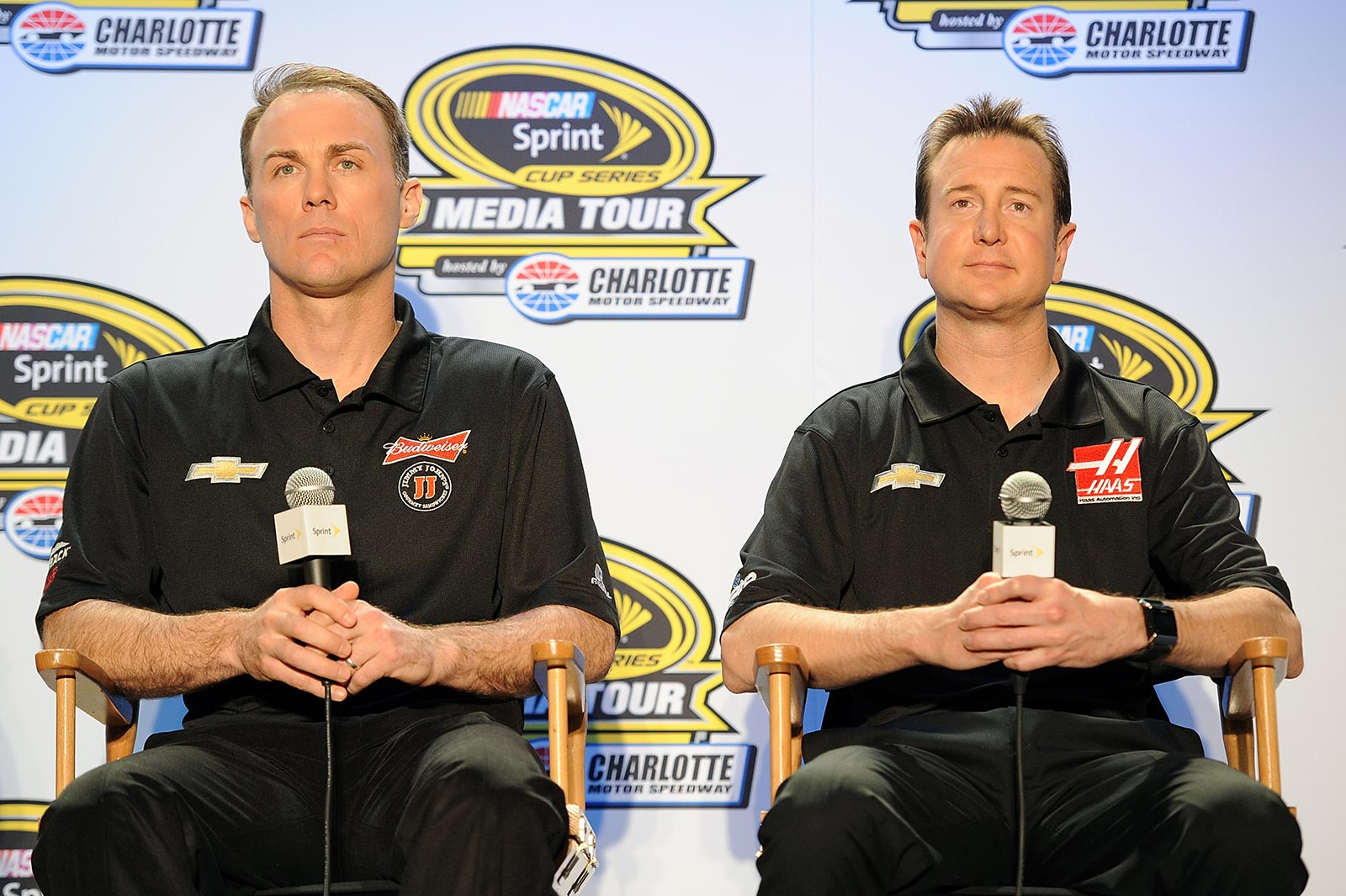 Sprint_Media_Tour_Charlotte_012714_Harvick_Busch_SHR