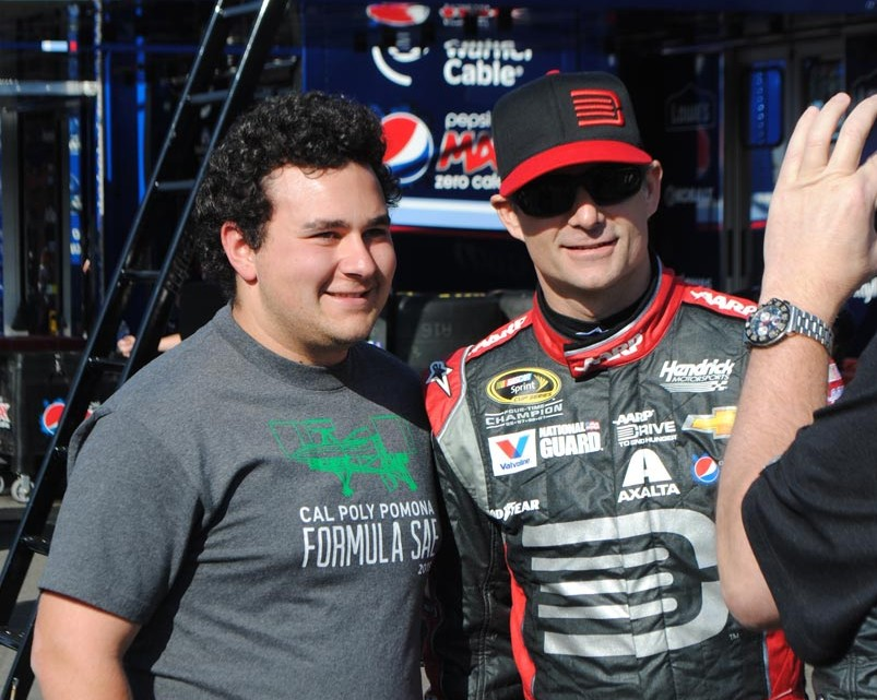 Jeff Gordon with a fan  (Photo Credit: Heather Baker/The Fast and the Fabulous)