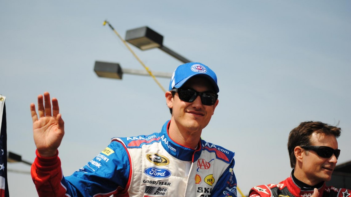 Joey Logano and Jeff Gordon  (Photo Credit: Heather Baker/The Fast and the Fabulous)