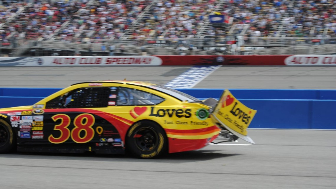 The No. 38 Love's Travel Stops Ford driven by David Gilliland  (Photo Credit: Heather Baker/The Fast and the Fabulous)