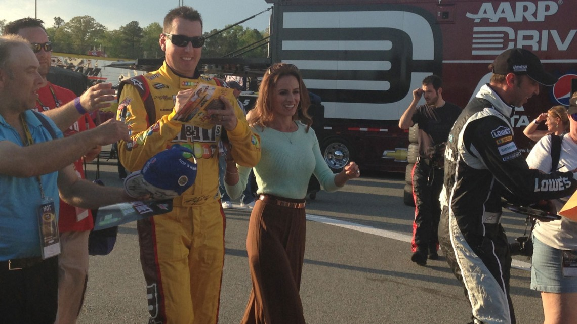 Kyle & Samantha Busch along with Chad Knaus. (credit: Kristen Valus/The Fast and the Fabulous)