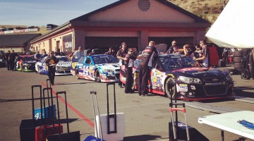 Teams lined up for inspection at Sonoma Raceway on Friday, June 20, 2014. (photo credit: The Fast and the Fabulous)