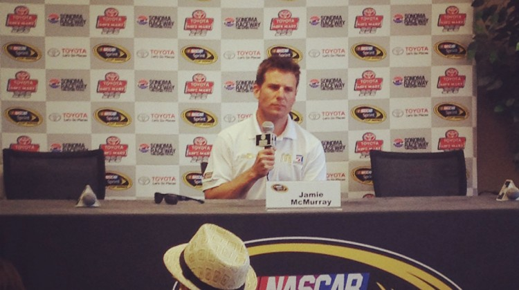 Jamie McMurray at Sonoma Raceway on Friday, June 20, 2014. (photo credit: The Fast and the Fabulous)