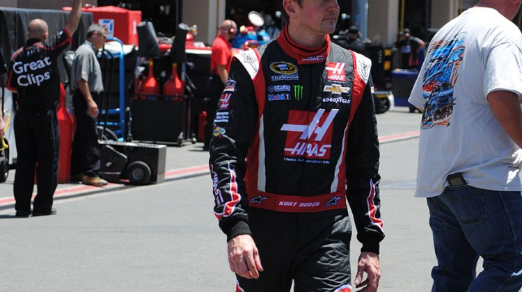 Kurt Busch at Sonoma Raceway on Friday, June 20, 2014. (photo credit: Heather Baker/The Fast and the Fabulous)