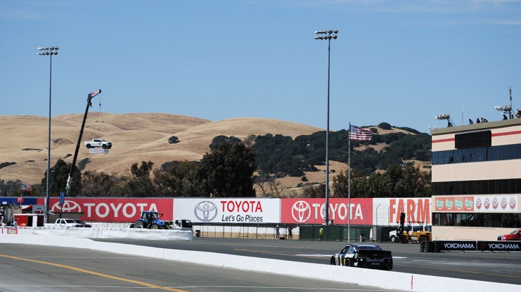 Jamie McMurray in the No. 1 Cessna Chevrolet rolls down the track at Sonoma Raceway on Friday, June 20, 2014. (photo credit: Heather Baker/The Fast and the Fabulous)