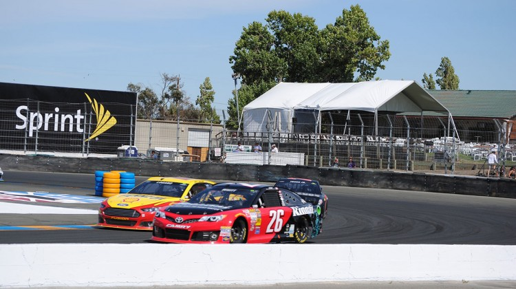 On track practice action in Turn 11 at Sonoma Raceway on Friday, June 20, 2014. (photo credit: Heather Baker/The Fast and the Fabulous)