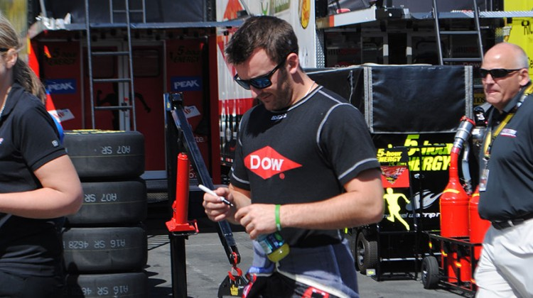 Austin Dillon walks out to qualifying at Sonoma Raceway on Saturday, June 21, 2014. (photo credit: Heather Baker/The Fast and the Fabulous)