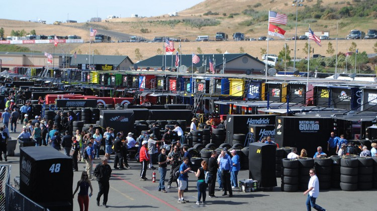 The garage at Sonoma Raceway on Saturday, June 21, 2014. (photo credit: Heather Baker/The Fast and the Fabulous)