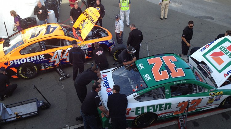 Cars through inspection at Sonoma Raceway on Saturday, June 21, 2014. (photo credit: The Fast and the Fabulous)