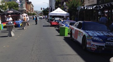 "Downtown Napa getting set up for ""Napa NASCAR Night"" on Saturday, June 21st, 2014  (photo credit: The Fast and the Fabulous)"