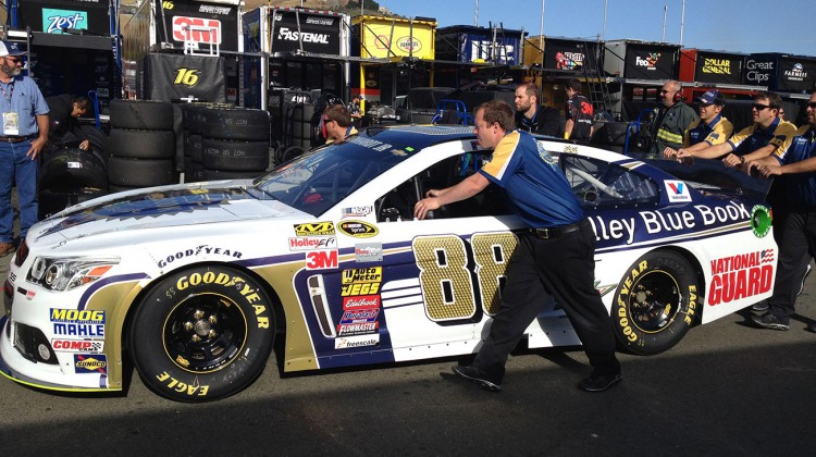 The No. 88 gets ready to go through inspection prior to qualifying at Sonoma Raceway on Saturday, June 21, 2014. (photo credit: The Fast and the Fabulous)