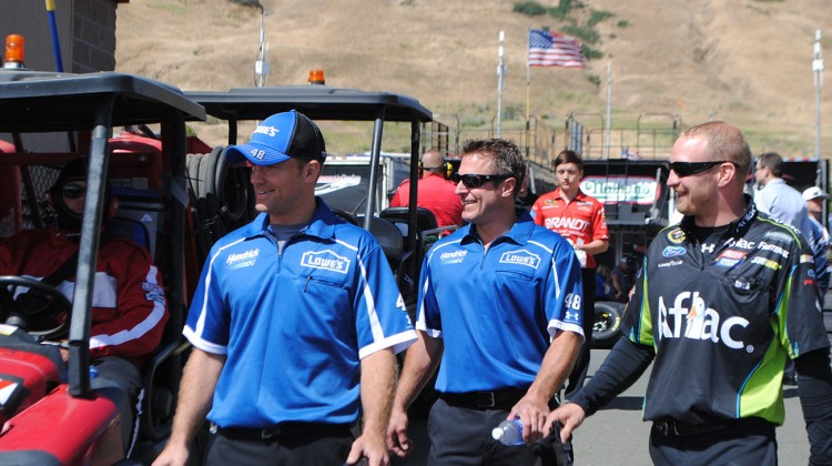 Obligatory Ron Malec (center) photo at Sonoma Raceway on Saturday, June 21, 2014. (photo credit: Heather Baker/The Fast and the Fabulous)
