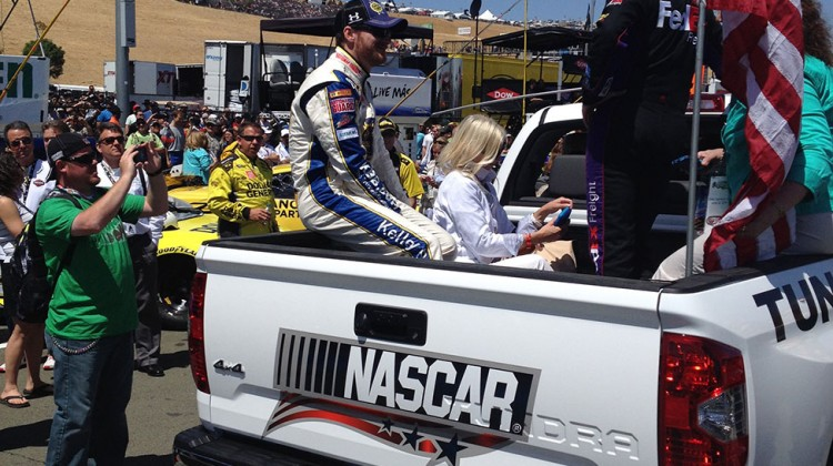 Dale Earnhardt Jr. and Denny Hamlin at Sonoma Raceway on June 22, 2014. (photo credit: The Fast and the Fabulous)