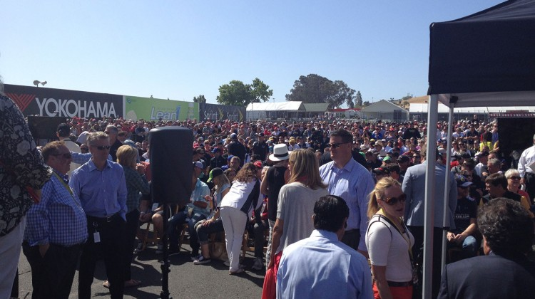 The full drivers meeting space at Sonoma Raceway on June 22, 2014. (photo credit: The Fast and the Fabulous)
