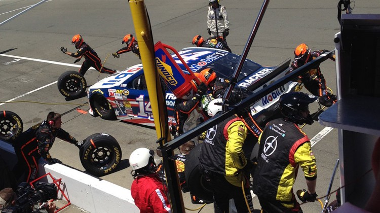 The No. 14 team does a pit stop at Sonoma Raceway on June 22, 2014. (photo credit: The Fast and the Fabulous)