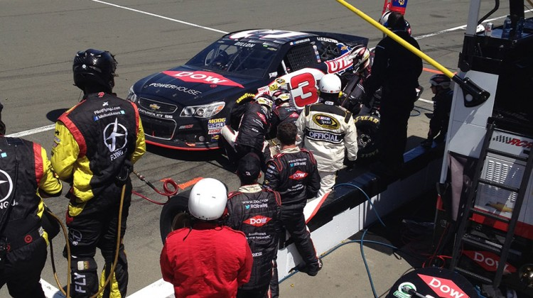 The No. 3 handles a pit stop at Sonoma Raceway on June 22, 2014. (photo credit: The Fast and the Fabulous)
