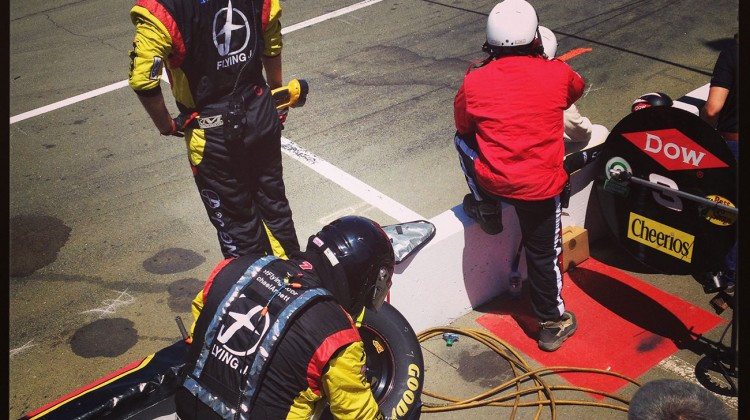 The No. 7 pit crew about to go to work on a pit stop at Sonoma Raceway on June 22, 2014. (photo credit: The Fast and the Fabulous)