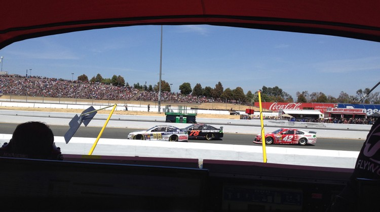 My view from the No. 7 Pilot / Flying J Chevy pit box at Sonoma Raceway on June 22, 2014. (photo credit: The Fast and the Fabulous)