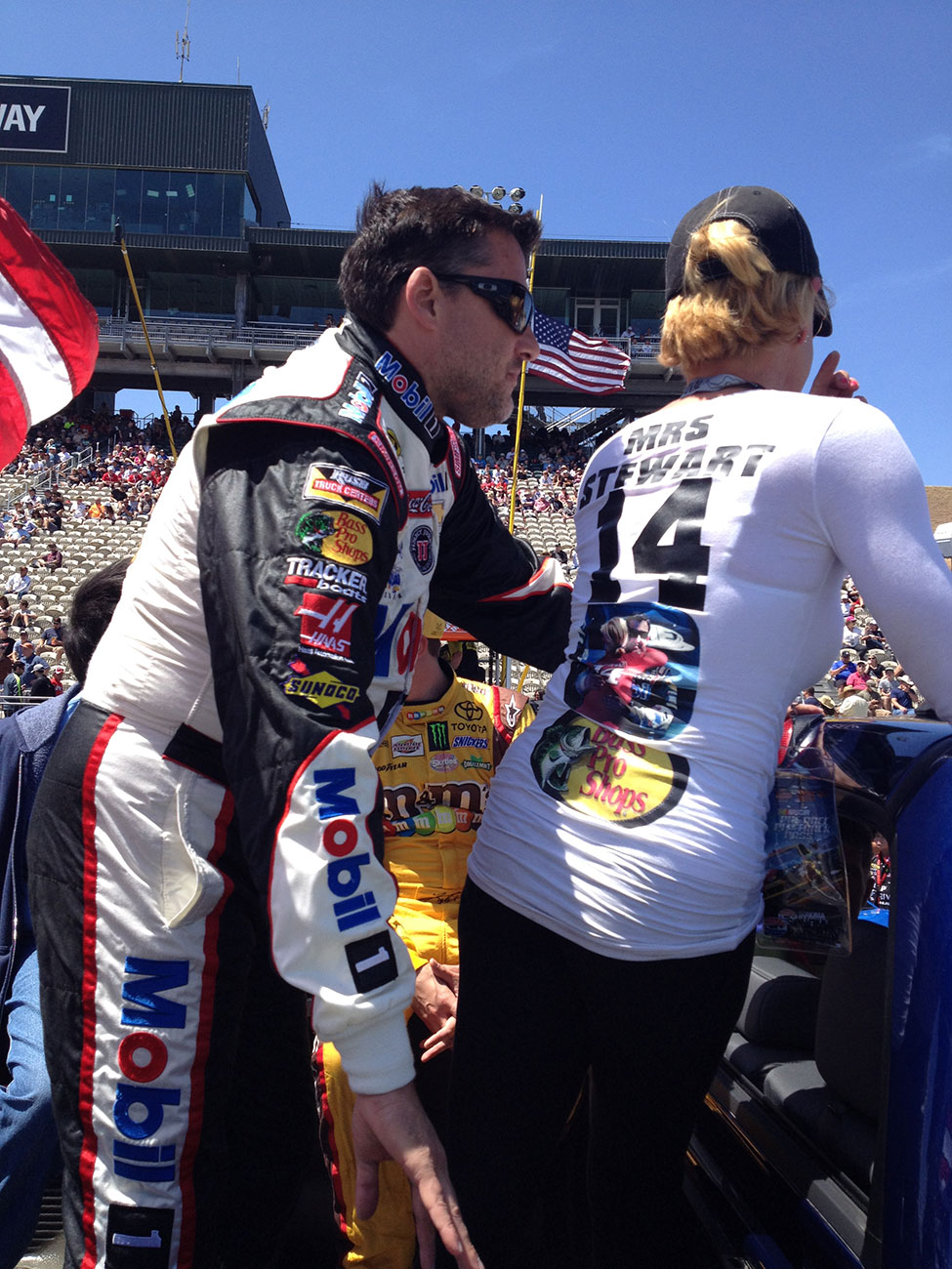 Sunday At Sonoma Tony Stewart Meets His Future Mrs The Fast And