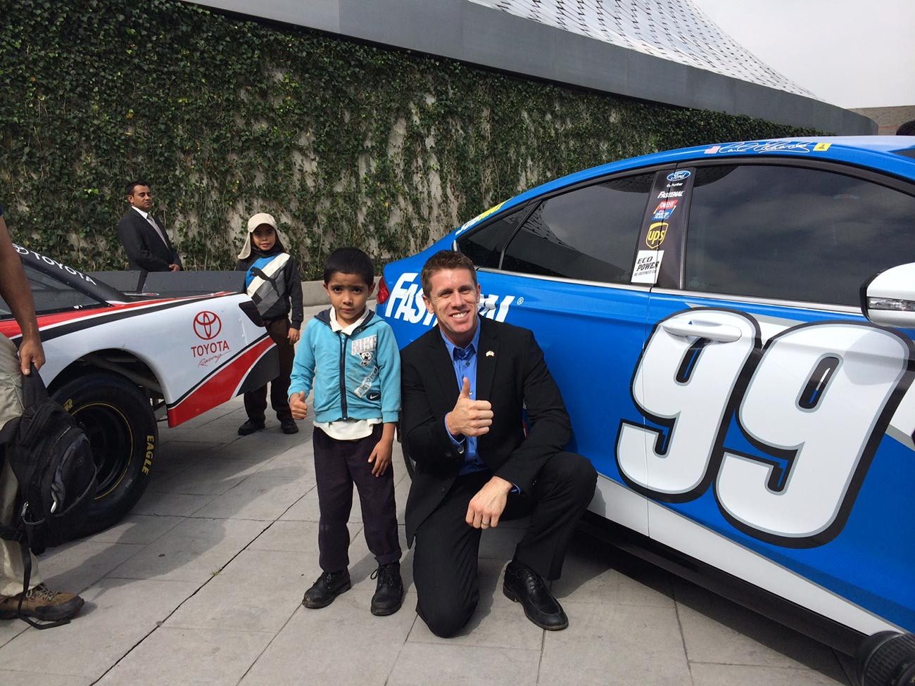 Photo of Carl Edwards & his  Son  Michael Edwards