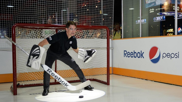"Jeff Gordon, four-time NASCAR Sprint Cup Series Champion takes part in a ""Chase Across Toronto"" by visiting the Hockey Hall of Fame in downtown Toronto as part of Chase Across North American on September 10, 2014. (Credit: Matthew Murnaghan/NASCAR)"