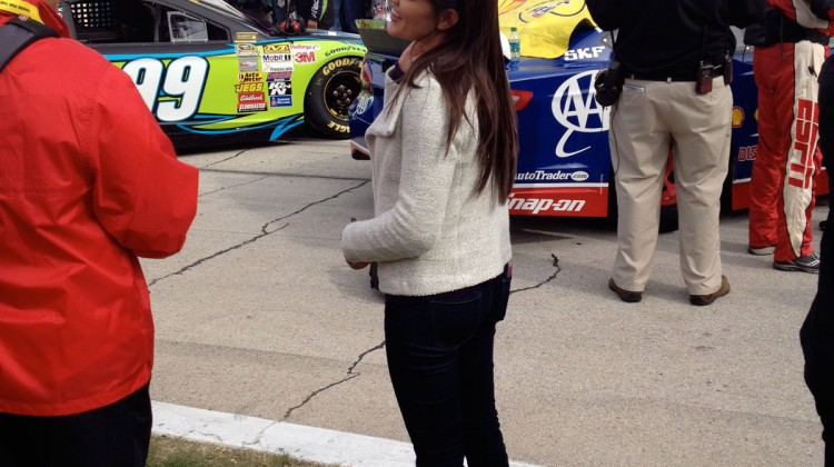 Brittany Baca, Joey Logano's now wife, at Texas Motor Speedway. (photo credit: The Fast and the Fabulous)
