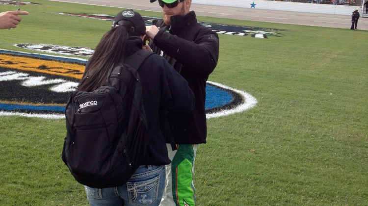 Dale Earnhardt Jr. at Texas Motor Speedway. (photo credit: The Fast and the Fabulous)