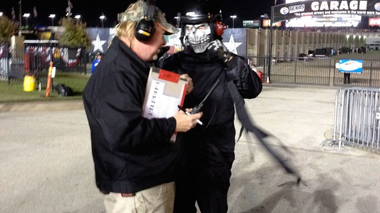 It was Halloween night at Texas Motor Speedway. (photo credit: The Fast and the Fabulous)