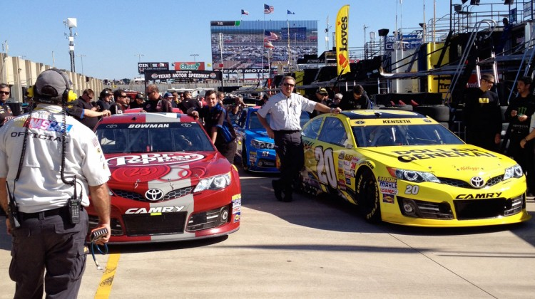 Cars lined up for inspection at Texas Motor Speedway. (photo credit: The Fast and the Fabulous)