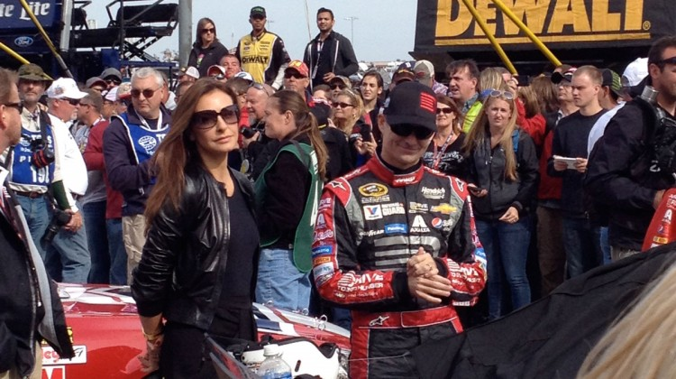 Ingrid Vandebosch and Jeff Gordon at Texas Motor Speedway. (photo credit: The Fast and the Fabulous)