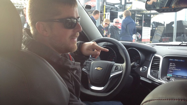 Justin Allgaier about to give a pace car ride to media peeps at Texas Motor Speedway. (photo credit: The Fast and the Fabulous)