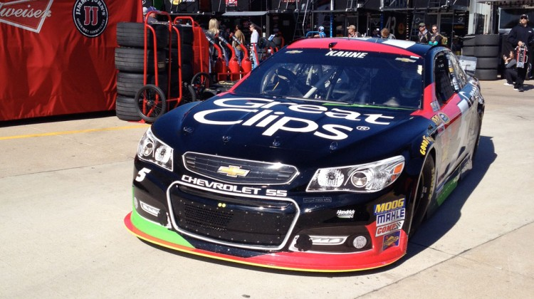The No. 5 Great Clips Chevy  during practice at Texas Motor Speedway. (photo credit: The Fast and the Fabulous)